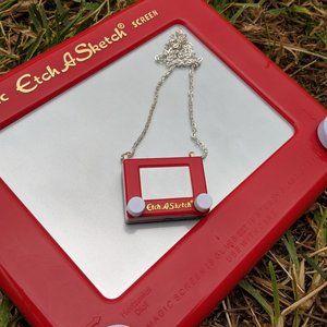 Mini Etch A Sketch necklace